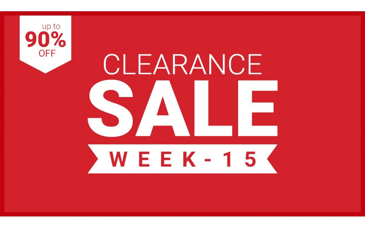 CLEARANCE - WEEK 15 - 2021