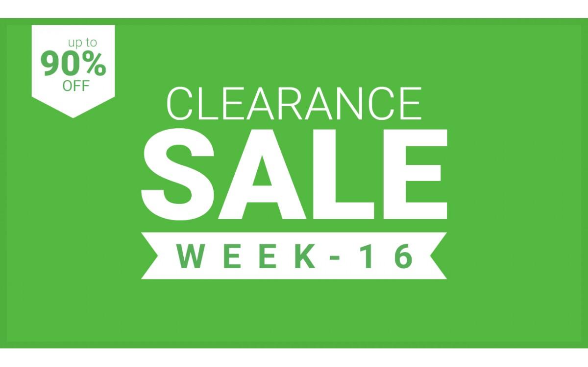 CLEARANCE - WEEK 16 - 2021