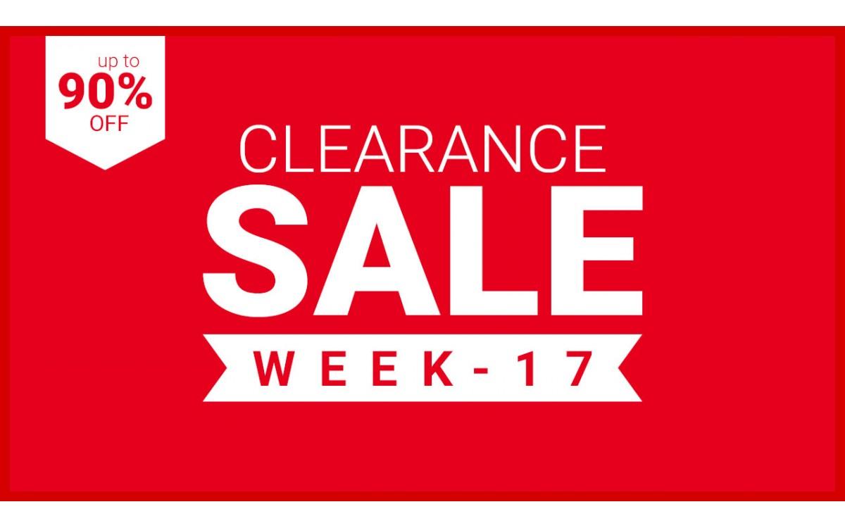 CLEARANCE - WEEK 17 - 2021