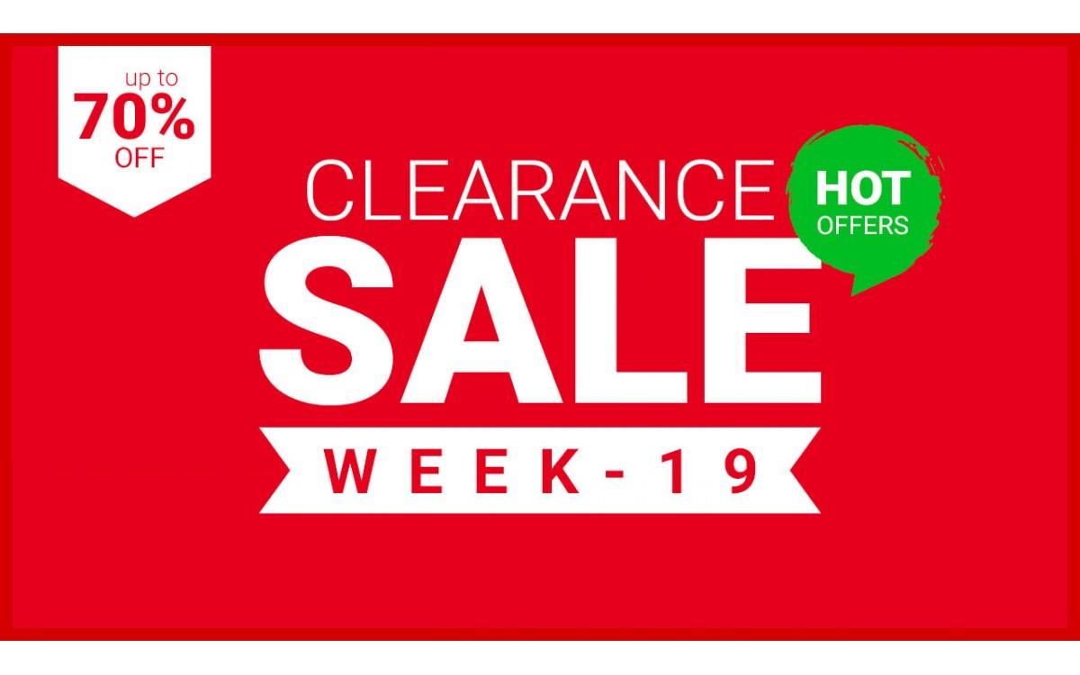 CLEARANCE - WEEK 19 - 2021