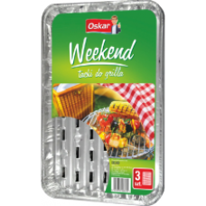 Oskar - Foil BBQ Tray (3pcs)