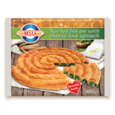 Bella - Filo pastry twirled pie with cheese & spinach 800g