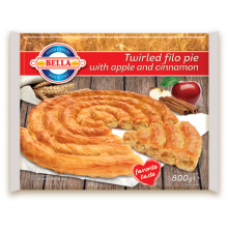 Bella - Filo pastry twirled pie with apple 800g