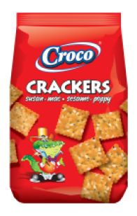 Croco - Crackers with Sesam and Poppy seeds 100g / Susan + Mac