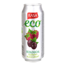 Rasa Eco - Raspberry - blackcurrant carbonated soft drink with juice 500ml can