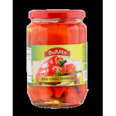 Bulvita - Marinated Red Long Peppers 680g