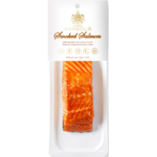 Q Harbour - Hot Smoked Salmon Fillet Chunks with Skin ~180g