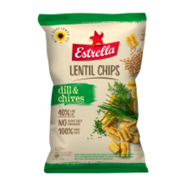Estrella - Lentil Crisps with Taste of Dill and Chives 100g