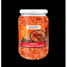 Scandia Sadu - Sausages in Baked Beans 680g jar/Fasole cu carnati afumati