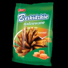 Aksam - Beskidzkie Sticks with Caramel Filling 100g