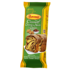 Boromir - Sponge-Cake with Walnuts Cream and Cacao / Cozonac Crema de Nuca si Cacao 400g