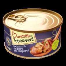 Bunatati de Topoloveni - Pork Stew with Mushrooms / Tochitura de Porc cu Ciuperci 400g