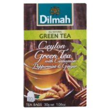 Dilmah - Cinnamon-Peppermint-Ginger Green Tea 20x1.5g