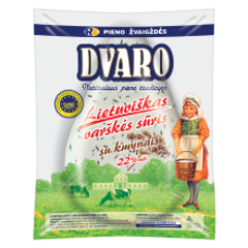 Dvaro - Curd Cheese with Caraways 22% fat kg (~300g)