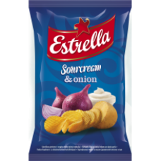 Estrella - Sour Cream and Onion Flavour Crisps 130g