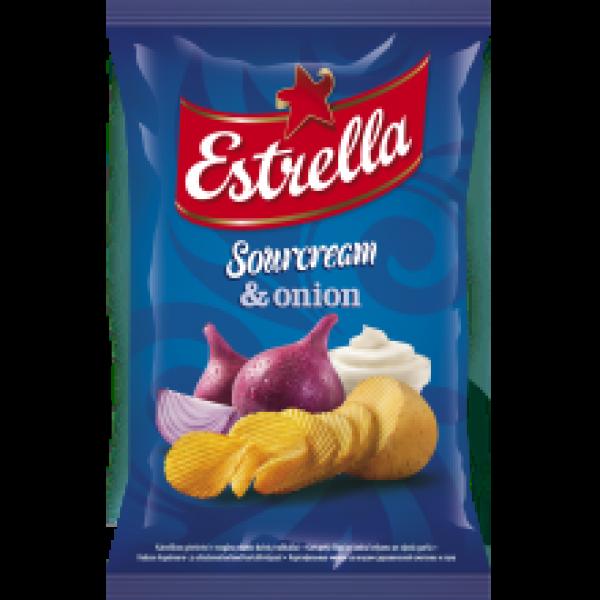 Estrella - Sour Cream and Onion Flavour Crisps 130g