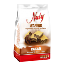 European Food - Naty Wafers with Cocoa Cream / Naty Napolitane Cacao 180g