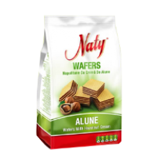 European Food - Naty Wafers with Hazelnut Cream / Napolitane cu Crema de Alune 180g