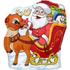 Figaro - Santa Claus with Deer Chocolate Figure 85g