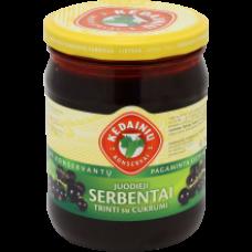 Kedainiu Konservai - Grated Blackcurrants with Sugar 420g