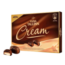 Kalev - Chocolate Sweets with Vana-Tallinn & Liqueur Cream Filling 124g