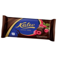 Kalev - Dark Chocolate with Raspberries 100g