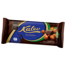 Kalev - Dark Chocolate with Whole  Hazelnuts 100g
