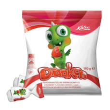 Kalev - Draakon Strawberry Flavour Chewing Sweets 110g