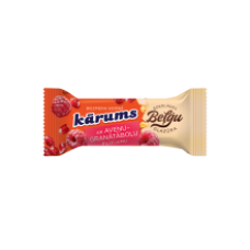 Karums - Curd Snack with Raspberry & Pomegranate Filling in Belgian Chocolate coating 38g
