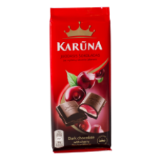 Karuna - Black Chocolate with Cherry Filling 90g