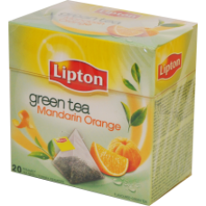Lipton - Green Tea Mandarin Orange Pyramids 20x2g