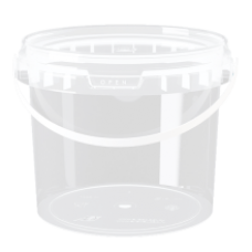Ludona - Plastic Food Bucket with Lid 1L