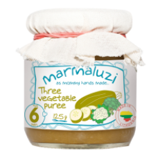 Marmaluzi - Three Vegetable Puree 125g