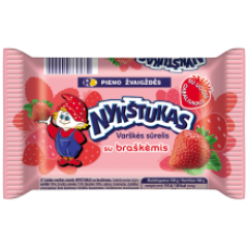 Nykstukas - Curd Cheese Bar with Strawberry 100g