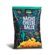 OHO - Nacho Cheese Balls Snacks 200g