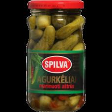 Spilva - Hot Pickled Gherkins 330g