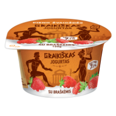 Pieno Zvaigzdes - Greek Yogurt with Strawberries 150g