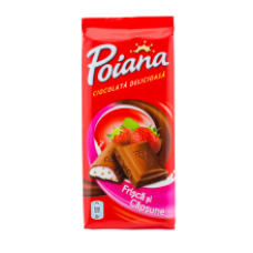 Poiana - Strawberry Filling Chocolate / Ciocolata Crema Capsuni 90g