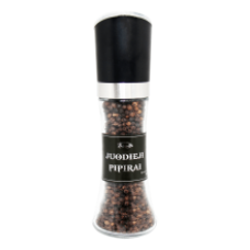 Sauda - Black Pepper in Glass Jar with Mill 100g