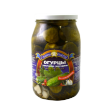 Teshchiny Recepty - Cucumbers with Blackcurrant Leaves 900ml