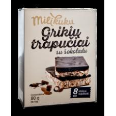 Ustukiu Malunas - Milikuku Buchwheat Cakes with Chocolate 80g