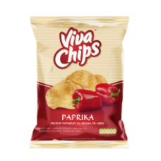 Viva - Paprika Flavour Crisps / Viva Chips Ardei 100g