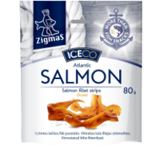 Zigmas - Dried Salmon Fillet Strips 80g