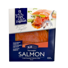 Zigmas - Smoked Sliced Salmon Fillet in Vacuum 100g